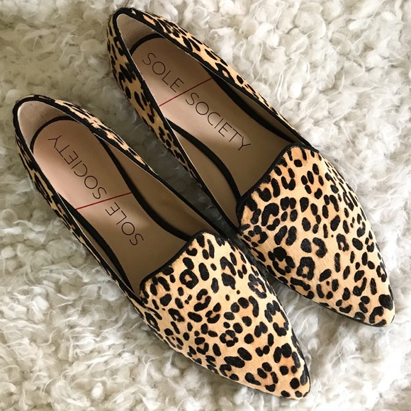 Sole Society Leopard Print Loafers